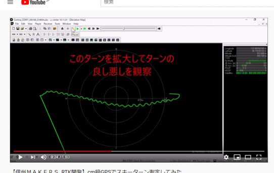 【SKIのIOT】cm級GPSを使ってスキーターンの測定した<信州MAKERS開発>